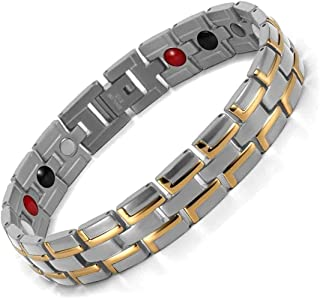 Stylish Magnetic Therapy Bracelet for Men and Women Health Improvement   Reliefs Arthritis, Carpal Tunnel, Migraine, Heada...