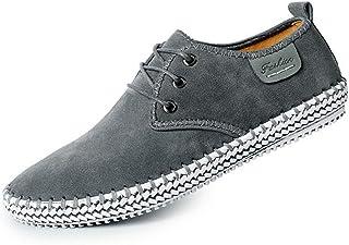 LIEBE721 Zapatos de Cordones Casuales de Gamuza de los Hombres Luz Salvaje Antideslizante Clásico Duradero Elegante Maduro...