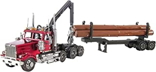 Fascinations Metal Earth ICONX Western Star 4900SB Log Truck & Trailer 3D Metal Model Kit