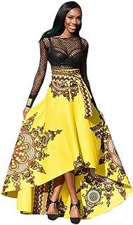 7d318361a09 iTLOTL New African Women Printed Summer Boho Long Dress Beach Evening Party  Maxi Skirt