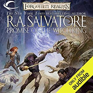 Promise of the Witch-King     Forgotten Realms: The Sellswords, Book 2              Written by:                                                                                                                                 R. A. Salvatore                               Narrated by:                                                                                                                                 Victor Bevine                      Length: 12 hrs and 22 mins     22 ratings     Overall 5.0