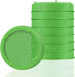 Picowe 8 Pack Plastic Sprouting Lids, Sprouting Jar Strainer Lid, for 86mm Wide Mouth Mason Jars, Canning Jars, Suit for Grow Bean Sprouts, Alfalfa, Salad Sprouts etc.