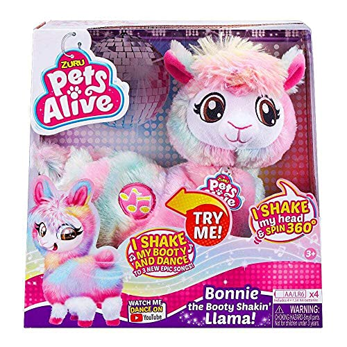 Pets Alive Rainbow Bonnie The Booty Shakin Llama Battery-Powered Dancing Robotic...