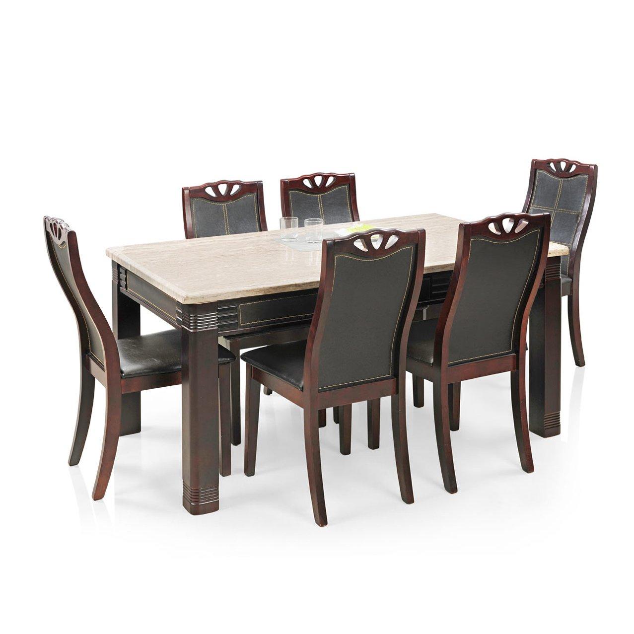 Royal Oak Lotus Six Seater Dining Table Set Rosewood  Amazon.in ...