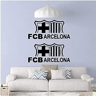 Zjxxm Home Décor DIY FCB Arcelona Removable PVC Wall Stickers Nursery Room Decor Art Decals 5760Cm