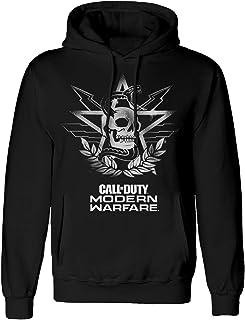 comprar comparacion Call of Duty Modern Warfare - MW Skull - Sudadera Negra para Hombre con Capucha, impresión Frontal - Producto Oficial