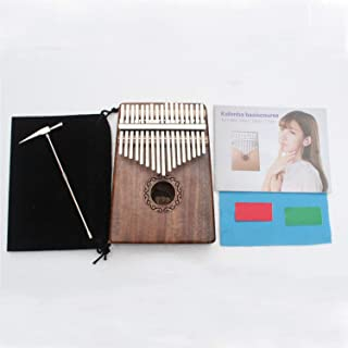 17 Keys Kalimba Thumb Piano Solid KOA Body, with Manual, Tuning Hammer, Pouch Bag