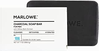 MARLOWE. Charcoal Face & Body Soap Bar No. 106 (7oz) | Best Cleansing & Detoxifying Bar for Men | Includes Natural Extract...