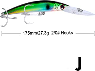 1pcs 17cm 27g Big Fishing Lures Floating Hard Fishing Wobbler with BKB Treble Hooks Bass Bait Pesca