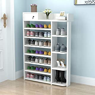 Vobajf Porte-Chaussures 5 Niveau ménagers Multifonctions Porte-Chaussures avec Verrouillage du tiroir Shoe Rack Support de...