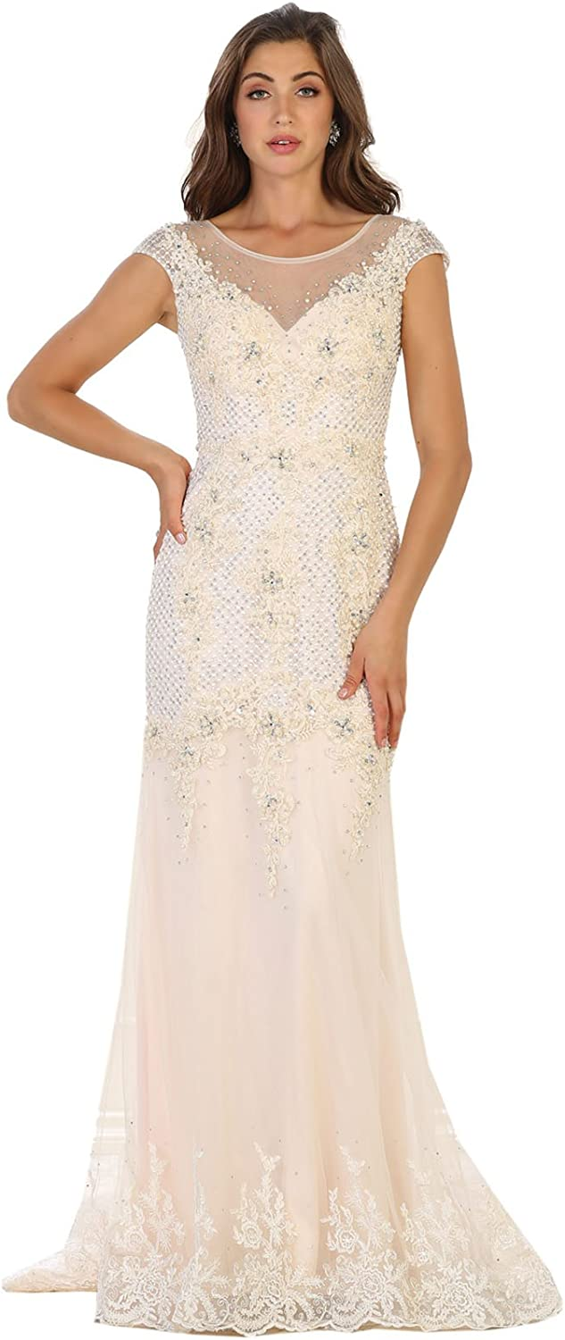 Royal Queen RQ7521 Red Carpet Formal Designer Gown