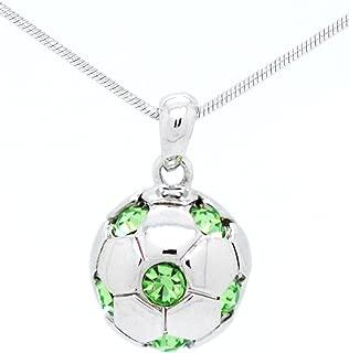 Violet Victoria & Fan Star Soccer Ball Necklace - Crystal Soccer Ball Necklace
