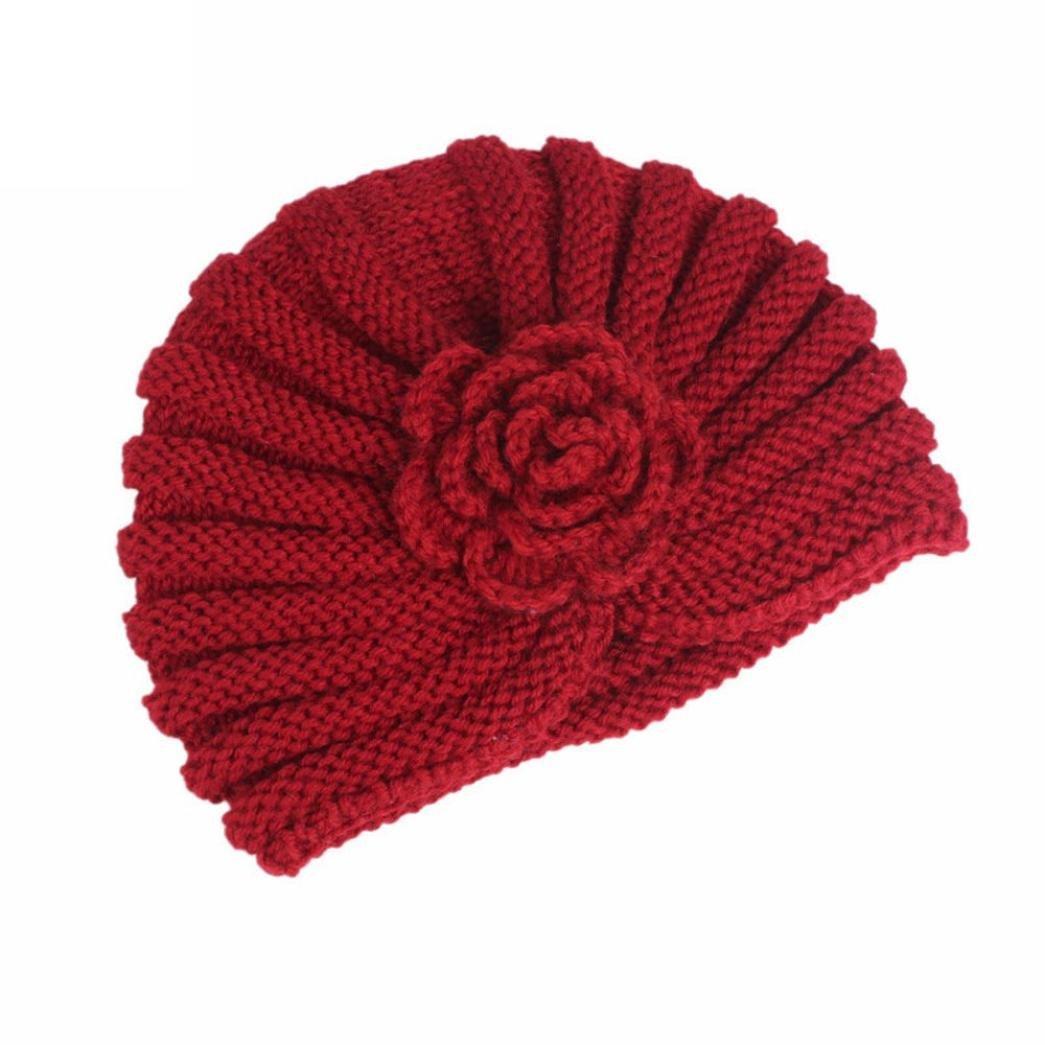 Molyveva Baby Warm Beanie Letter Rabbit Knitting Cotton Hat Print Hairball Cap Hats & Caps