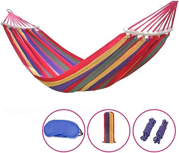 Toile épaisse en Plein air hamac Camping Chambre de dortoir intérieur Chambre Swing étudiant équipeHommest de Tourisme d'escalade (Couleur  n ° 1, Taille  180  150cm)