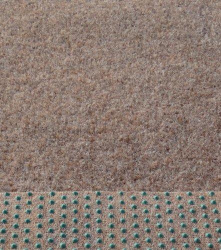 Kunstrasen Rasenteppich mit Noppen 133/200/400 cm Breite angenehm weich Farbe: beige - braun