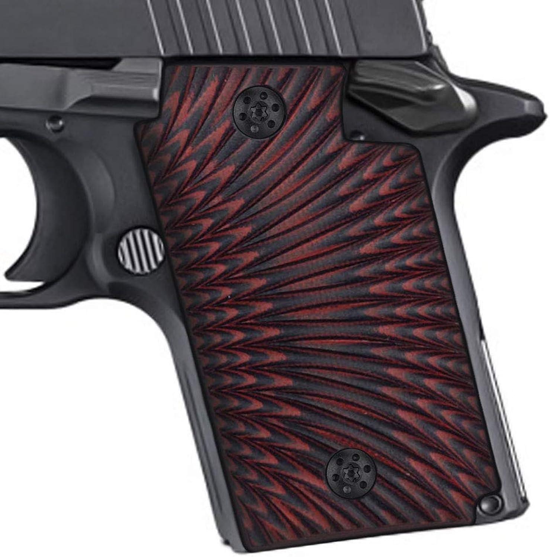 EXEL Cool Hand Sig Sauer P938 Grips Sunburst TextureG10Red Black