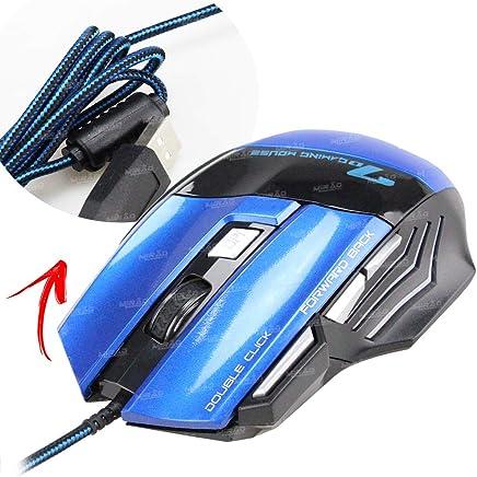 Mouse Gamer Azul Feir - Model FR 404 Cursor preciso de 2400 dpi / 7D Multifuncional / Alta compatibilidade com jogos / -/ 1 Gaming Mouse Feir, PC Gamer ( High Precision) Mouse para Game
