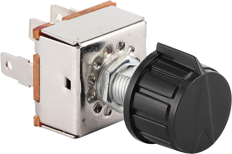 Interruptor de ventilador giratorio Control de aire acondicionado universal Interruptor de ventilador de CA Control de volumen de aire acondicionado de 3 velocidades Giratorio con perilla de plástico
