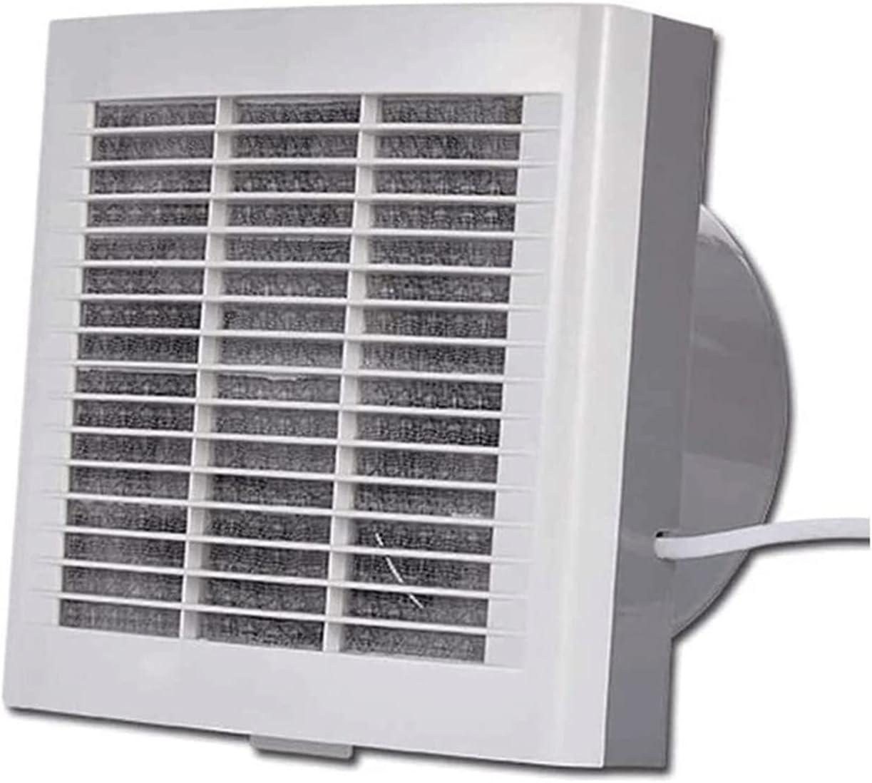 HDCDKKOU Ventilador de extractor de baño, ventilador de extractor de cocina Ventilador de alta capacidad, ventilador de ventilación bidireccional Ventilador de control remoto del obturador eléctrico d