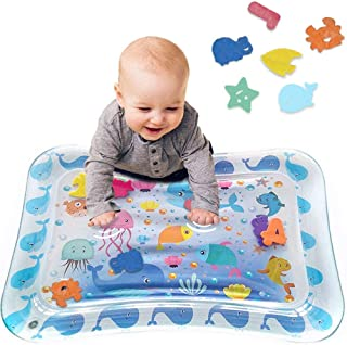 Tummy Time Baby Water Play Mat Inflatable Toy Mat for Infant & Toddlers Activity Center for 3 6 9 Months Newborn Boy Girl ...