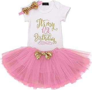 It's My 1st/2nd Birthday Outfit Baby Girl Romper Tutu Skirt Headband Leg Warmers 3/4pcs Flower Princess Clothes Set