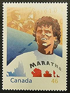 Terry Fox, Marathon Of Hope, Canada -Handmade Framed Postage Stamp Art 13599