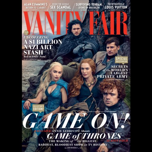 Vanity Fair: April 2014 Issue                   By:                                                                                                                                 Vanity Fair                               Narrated by:                                                                                                                                 Graydon Carter,                                                                                        various narrators                      Length: 4 hrs and 37 mins     Not rated yet     Overall 0.0