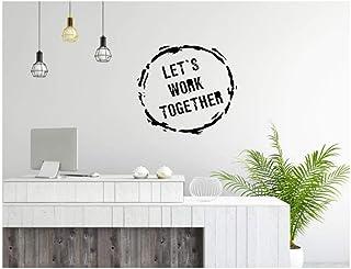 Qinyubing Bureau Succès Décalcomanie Art Succès Bureau Autocollants En Vinyle Murale Imperméable À L'Eau Teamwork Business...
