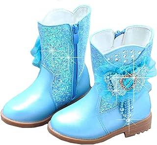 Fanessy niñas bailarina princesa zapatos de tacón alto botas Navidad vacaciones botas boda invierno festivo para niños nie...
