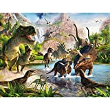 Lupovin Basswood Jigsaw Puzzles For Kids Adults 1000 Pcs Dinosaur World Jigsaw Puzzles Educational Game Stress Reliever For Adult Kids Christmas Birthday Gift
