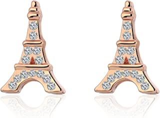 Stud Earring for Women,Eiffel Tower Earring Stud Girl Gold Silver Dangle Earring Stainless Steel Earring