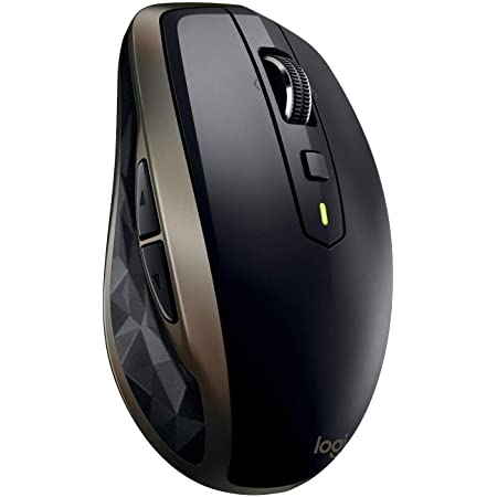 Logitech MX Anywhere 2 Mouse Wireless Amz, Bluetooth o 2.4 GHz Wireless con Ricevitore USB Unifying, Tracciamento Laser da 1000 DPI su Ogni Superficie, Versione Amazon, PC/Mac/Laptop, Nero