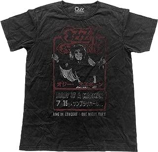 Ozzy Osbourne T Shirt Live in Japan Flyer Official Mens Vintage Finish Black