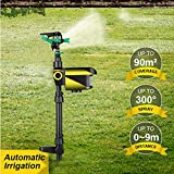 MEICHEN Solar Powered Motion Activated Animal Repeller Garden Sprinkler Scarecrow Animal Deterrent Water Sprinkler