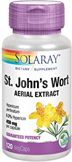 Solaray St Johns Wort Aerial Extract 450mg, Once Daily | Mood & Brain Health Support | 0.3% Hypericin | 120ct