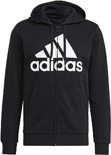 adidas mens ESSENTIALS FULL-ZIP HOODIE Sport Jacket