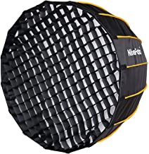 Nicefoto 47.2 inches/120cm Parabolic Softbox Professional Quick Set-up Deep Soft Box with Grid and Bowen Mount for Studio ...
