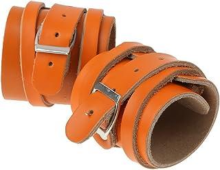 Healifty 革重量挙げの手首サポート調節可能なトレーニング手首は1組を包みます