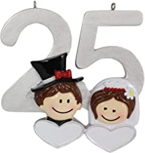 Personalized 25th Anniversary Ornament Silver Wedding Gift