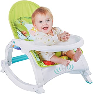 DELUXE 3 IN 1 BABY TO TODDLER ROCKER CHAIR W/DINNING TRAY