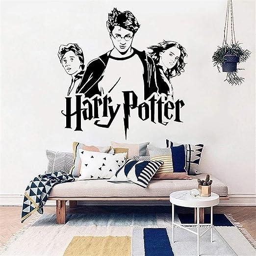 Sticker Trio Ron Hermione Vinilo Vinilo De Pared Hogwarts Art ...