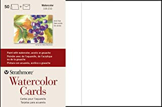 "$21 » Strathmore 105-210-1 Watercolor Cards, Cold Press, 5"" x 6.875"", 50 Envelopes, Cards & Envelopes"