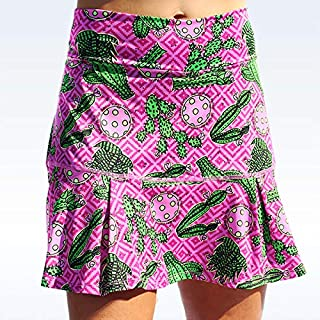 """Sassy"" Skort, Cactus 2 Drop Pleat Skort, Colorful Sportswear, Soft and Durable Skort for Women"