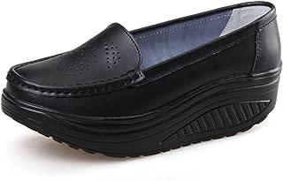 Women Girls Shape Ups Breathable Lightweight Shake Rocker Shoes Slip On Fitness Toning Walking Sneakers Wedges