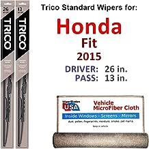 Best 2015 honda fit wiper size Reviews