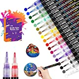 18 Farbige Steine Bemalen Acrylstifte für Steine Permanent