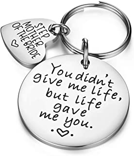 Udobuy Wedding Gift Keyring - Step Mother of The Bride Keyring - You Didn't Give Me Life, But Life Gave Me You - Step Mother of The Bride Gift