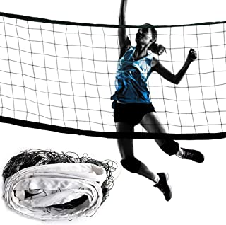 Hilai 1PC Professional Volleyball Net with Storage Bag Replacement Foldable Badminton Tennis Volleyball Net for Outdoor or...