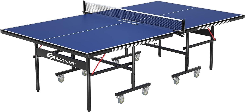Goplus Foldable Table Tennis Ping 9'x5' shopping Professional Pong San Francisco Mall