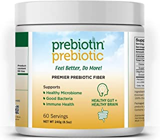 Prebiotin Prebiotic Premier Fiber Powder – 60 Servings - 8.5oz – Supports Total Digestive Health - Oligofructose-Enriched-...